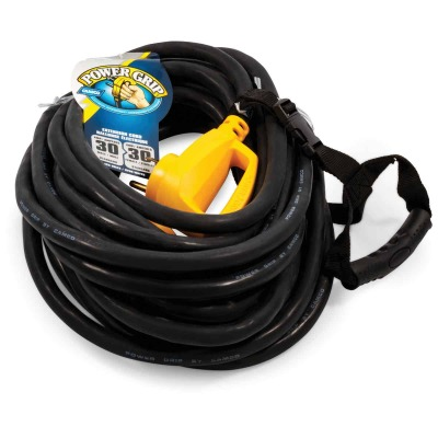 Camco PowerGrip 50Ft. 30A 125V 6/8 Gauge RV Extension Cord