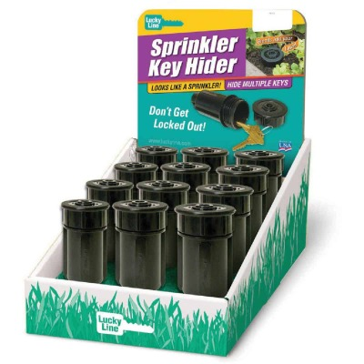 Lucky Line Black Plastic Sprinkler Key Hider Display (12-Piece)