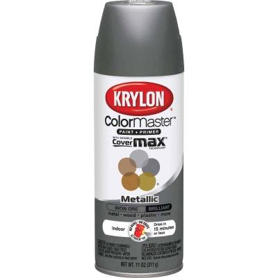 Krylon ColorMaxx Satin Iron Ore 12 Oz. Metallic Spray Paint