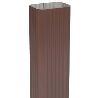 Spectra Metals 3 In. x 4 In. Brown Aluminum Downspout