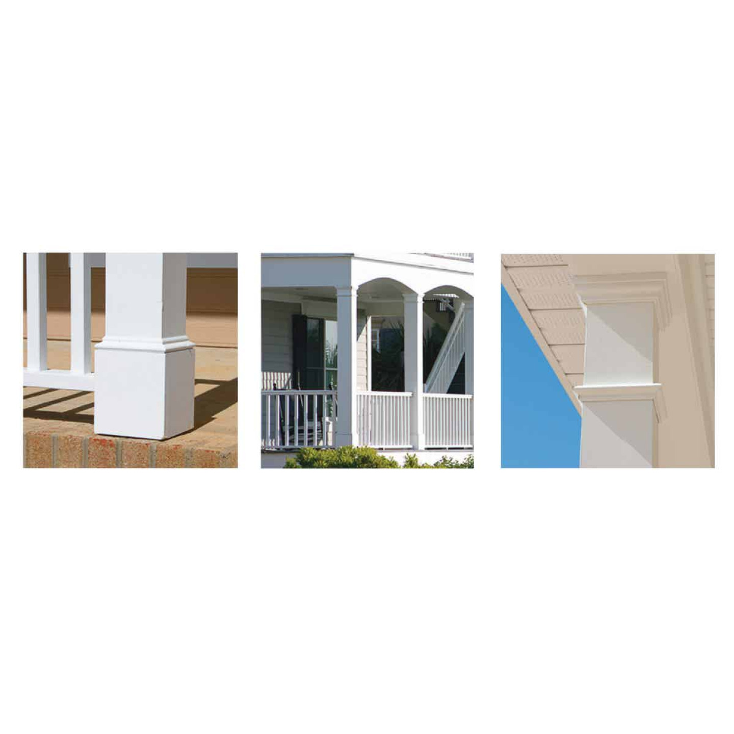 Crown Column DuraSnap 6 In. W x 6 In. H x 102 In. L White PVC Post Wrap Image 2
