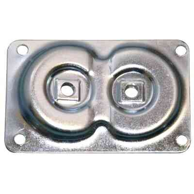 Waddell Dual Top Steel 3-11/16 In. x 2-3/8 In. Leg Mounting Plate