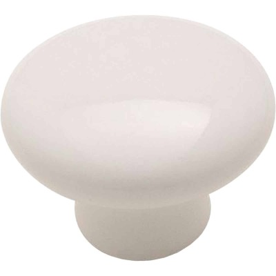 Amerock Allison White Ceramic 1-1/4 In. Cabinet Knob