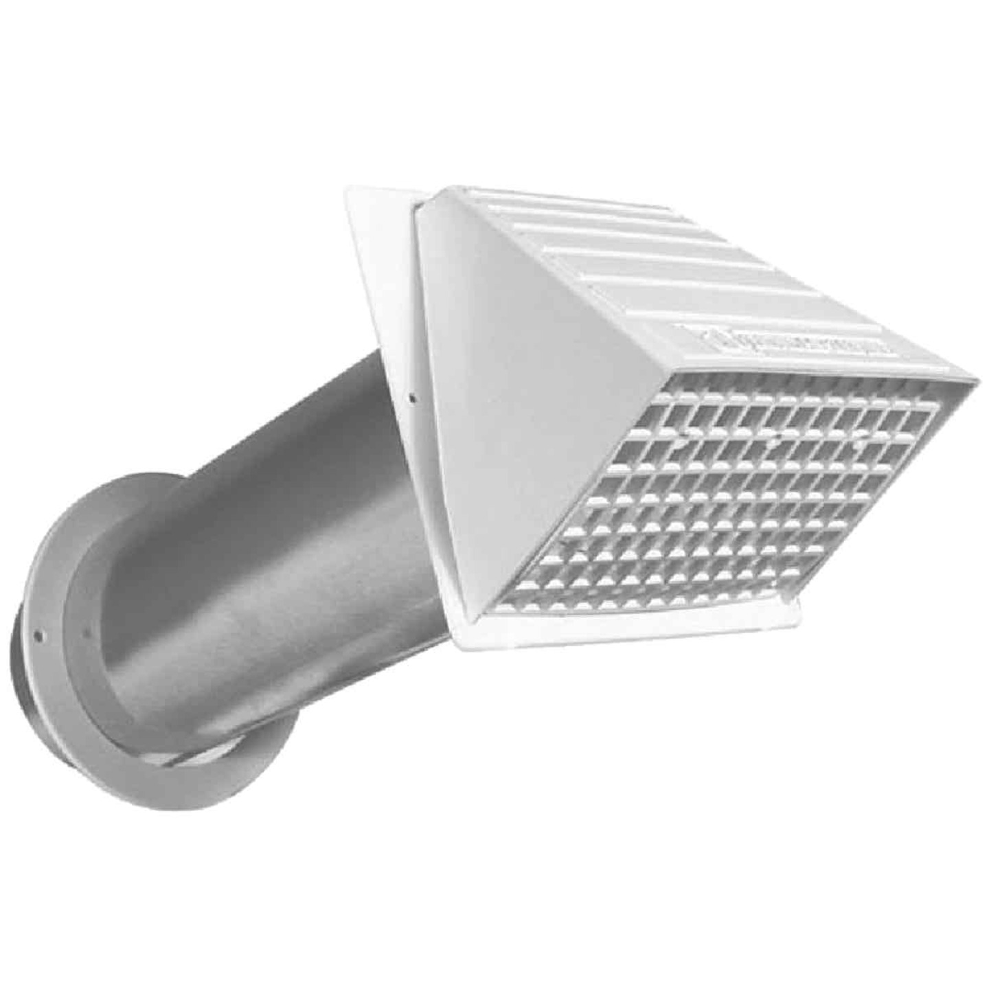 Dundas Jafine Maxi-Flow 4 In. White Plastic Dryer Vent Hood Image 1