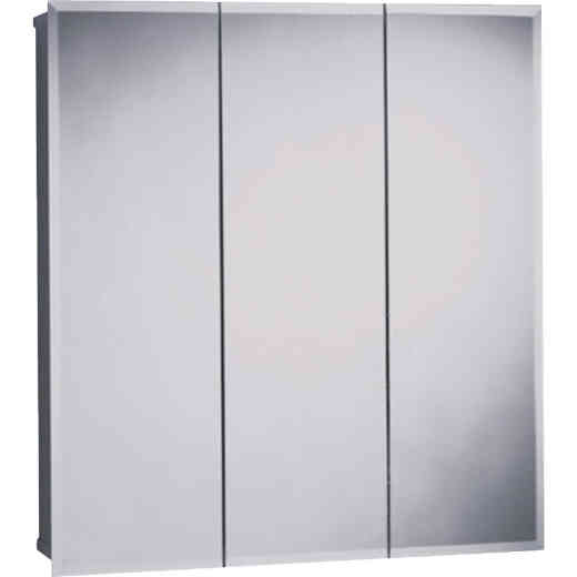 Zenith Frameless Beveled 23-5/8 In. W x 25-1/2 In. H x 4-1/2 In. D Tri-View Surface Mount Medicine Cabinet