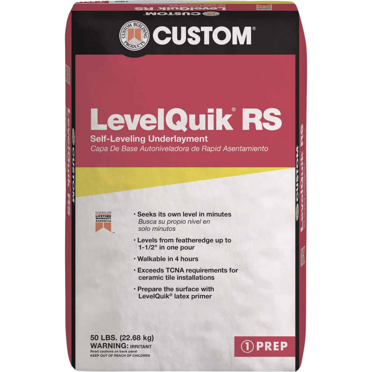 LevelQuik RS Self-Leveling Floor Patch & Leveler, Gray, 50 Lbs. Image 1