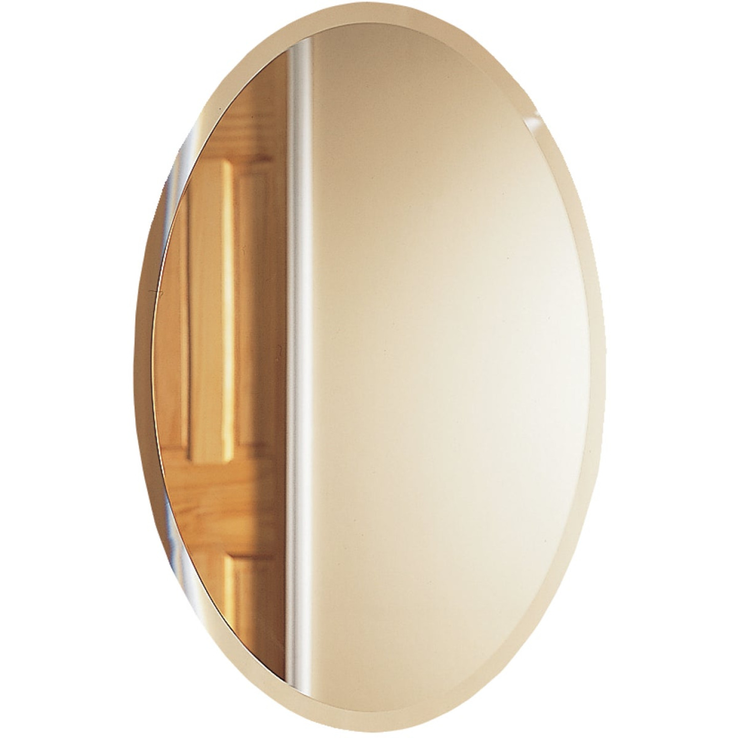 Zenith Frameless Beveled 21 In. W x 31 In. H x 4 In. D Single Mirror Surface Mount Oval Medicine Cabinet Image 1