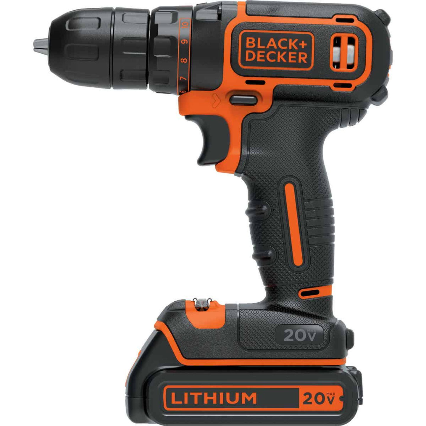 Black & Decker 20 Volt MAX Lithium-Ion 3/8 In. Cordless Drill Kit Image 5