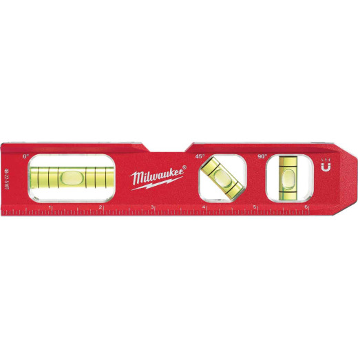 Milwaukee 7 In. Aluminum Magnetic Compact Billet Torpedo Level