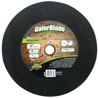 Gator Blade Type 1 12 In. x 1/8 In. x 1 In. Masonry Cut-Off Wheel