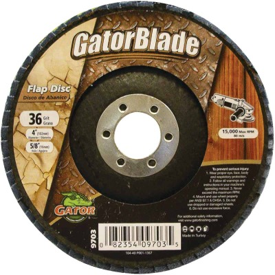 Gator Blade 4 In. x 5/8 In. 36-Grit Type 29 Angle Grinder Flap Disc