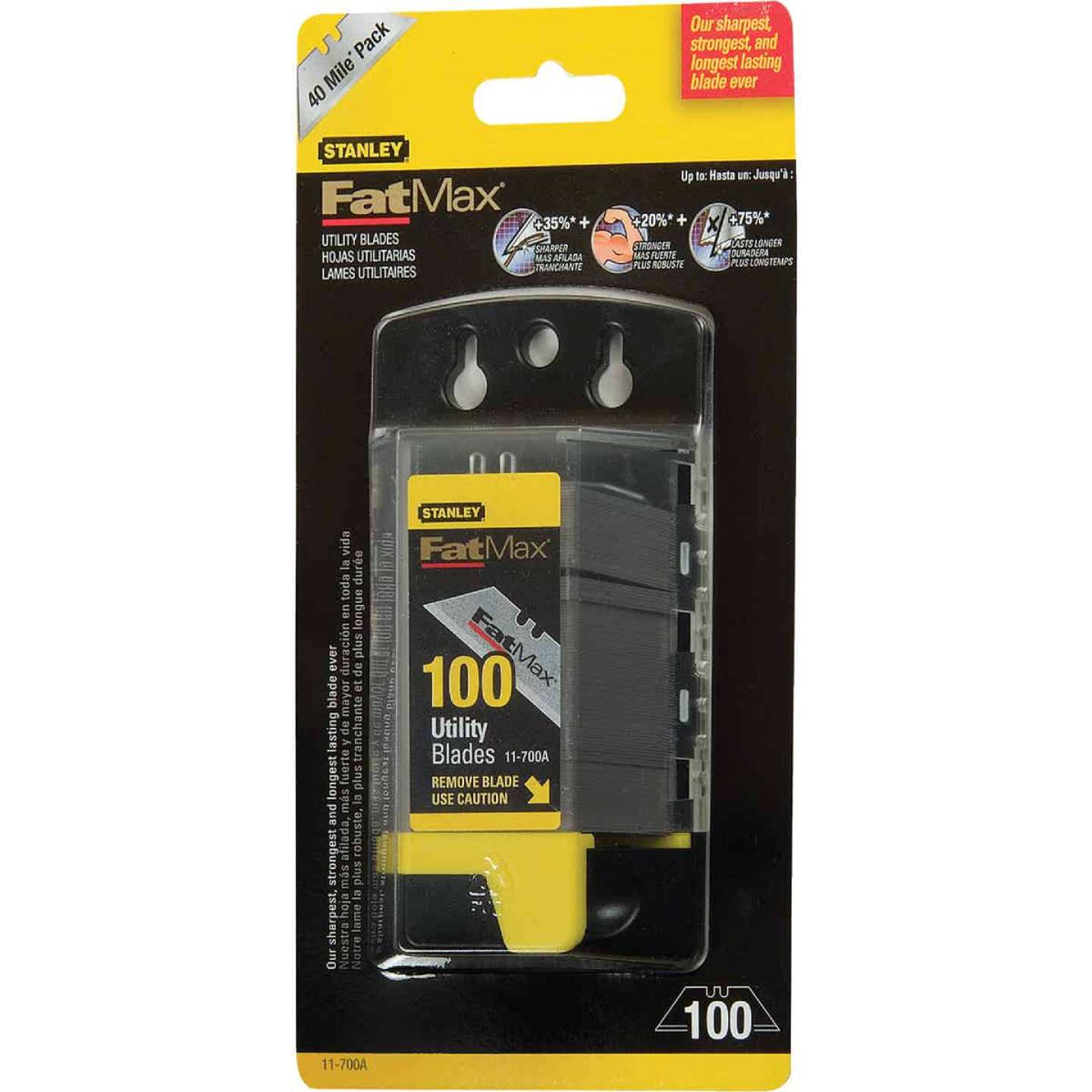 Stanley FatMax 2-Point 2-7/16 In. Utility Knife Blade (100-Pack) Image 3