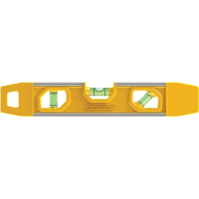 Johnson Level 9 In. Rubber Edge Aluminum Magnetic Torpedo Level
