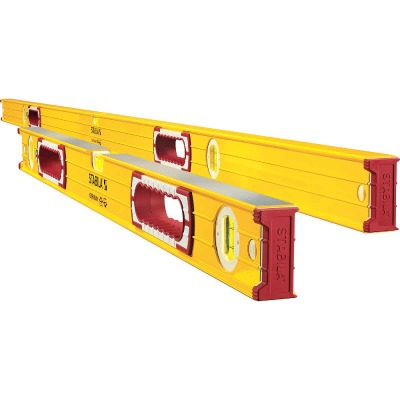 Stabila 78 In. Aluminum Jamber Box Level & 24 to 40 In. Extendable Level Set