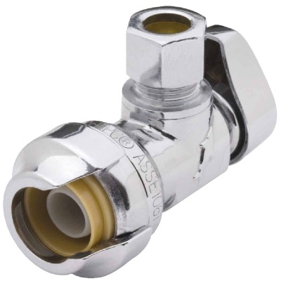 SharkBite 1/2 In. SB X 1/4 In. OD Quick Connect Angle Valve
