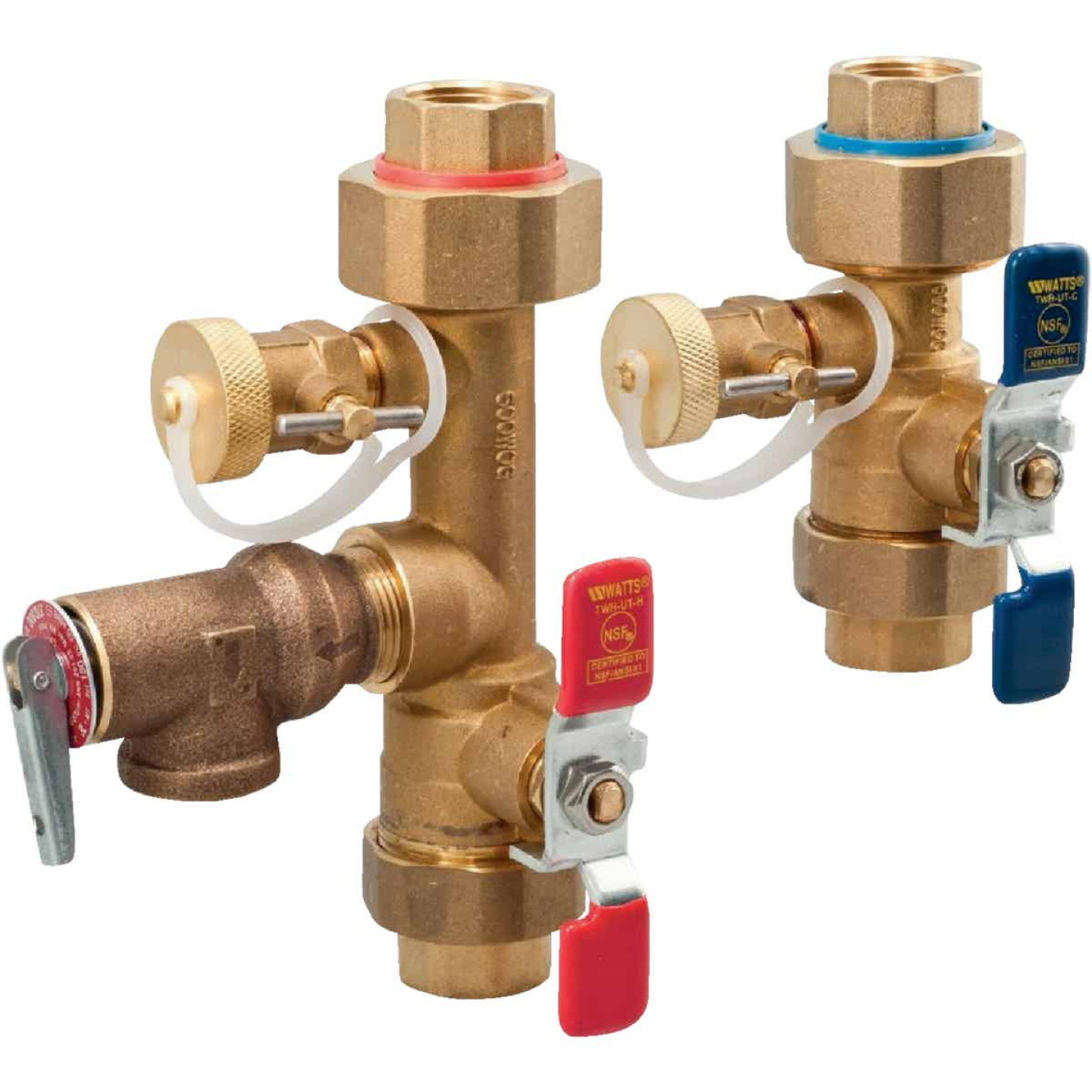 Watts 2-Piece 3/4 In. Lead-Free Brass Tankless Water Heater Installation Valve Kit Image 1