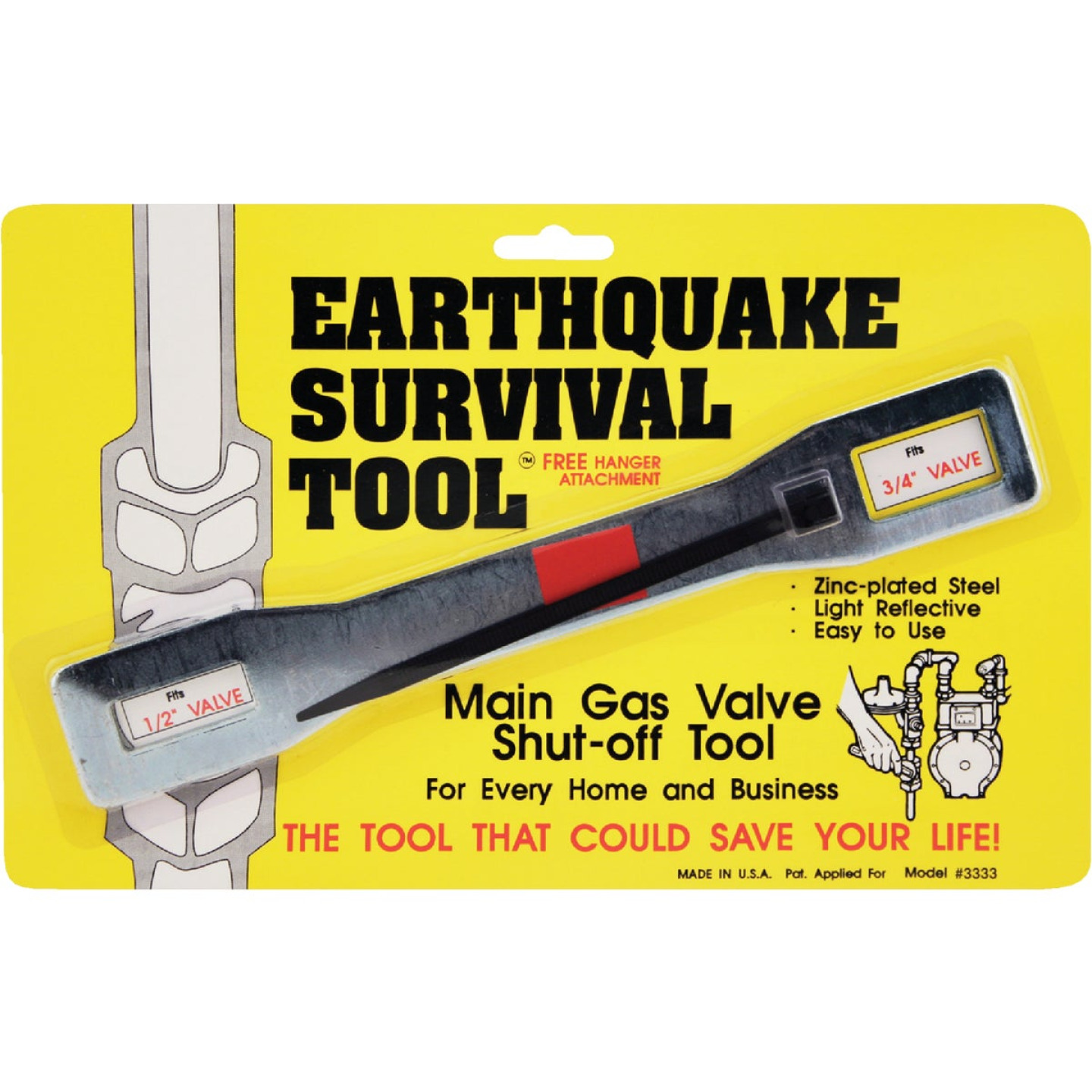 Ready America Gas Shut Off Wrench Earthquake Survival Tool Image 1