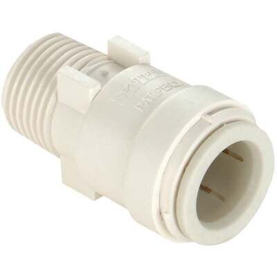 Watts 1/2 In. CTS x 3/8 In. MPT Quick Connect Plastic Connector