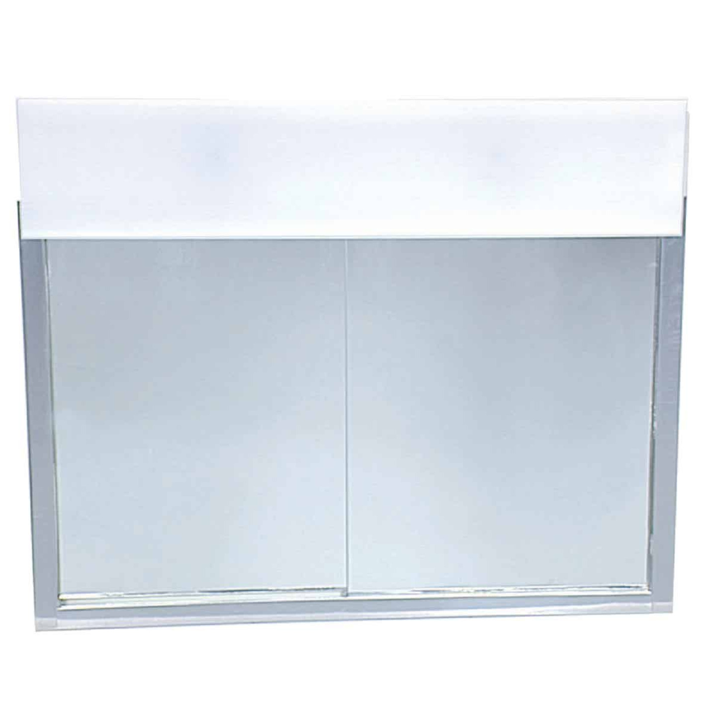 Zenith Stainless Steel 23.5 In. W x 18.5 In. H x 5.5 In. D Bi-View Surface Mount Lighted Medicine Cabinet Image 1