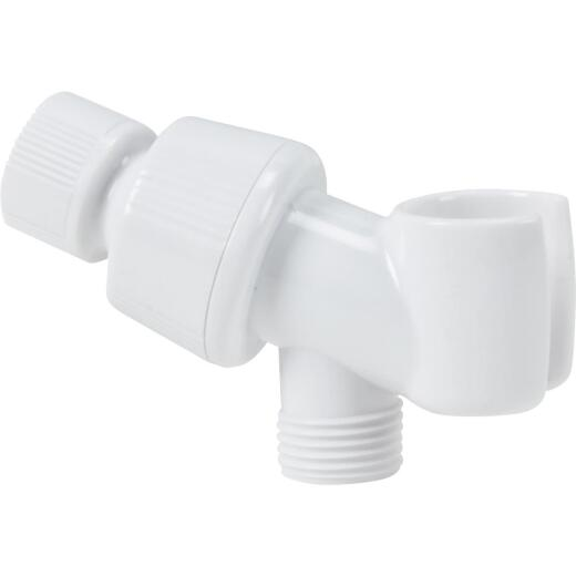 Home Impressions White Plastic Shower Bracket