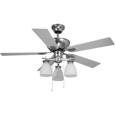 Home Impressions New Yorker 42 In. Brushed Nickel Ceiling Fan with Light Kit
