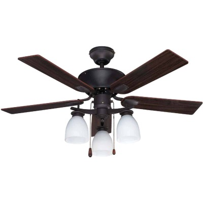 Home Impressions New Yorker 42 In. Oil Rubbed Bronze Ceiling Fan with Light Kit
