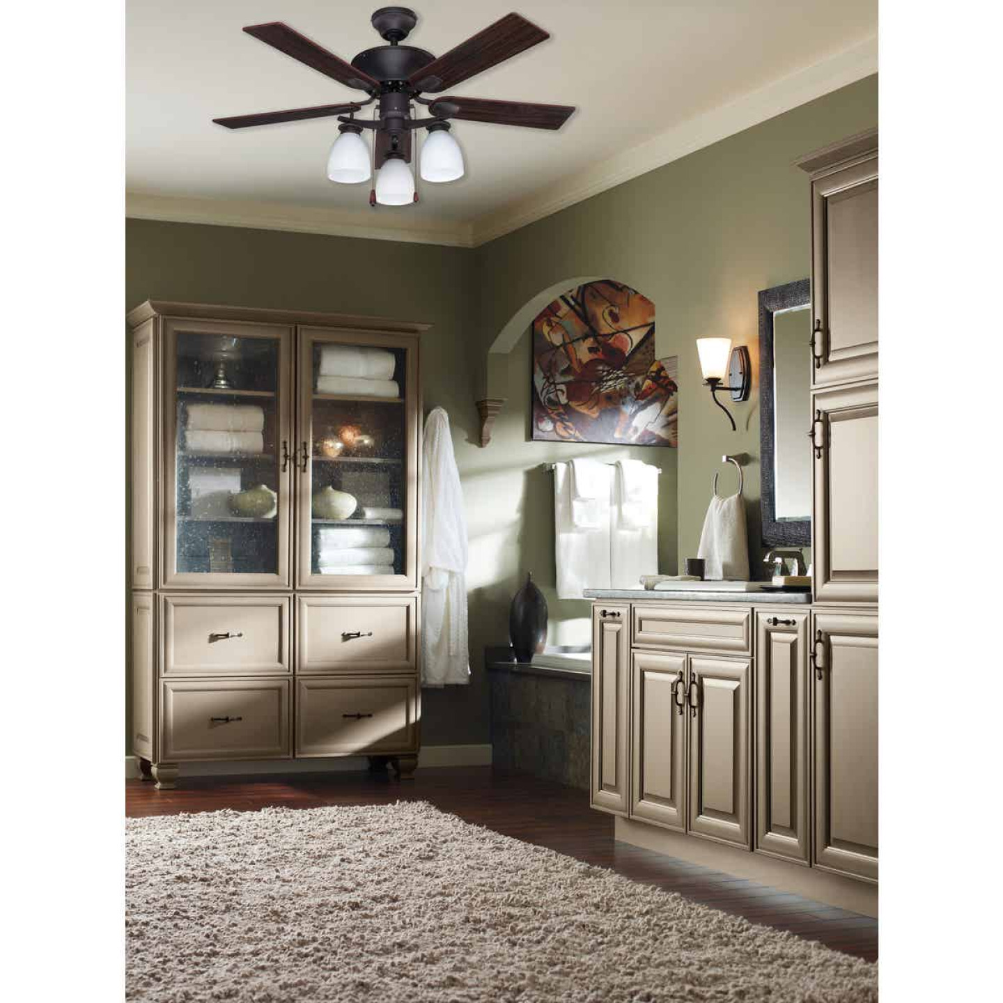 Home Impressions New Yorker 42 In. Oil Rubbed Bronze Ceiling Fan with Light Kit Image 2