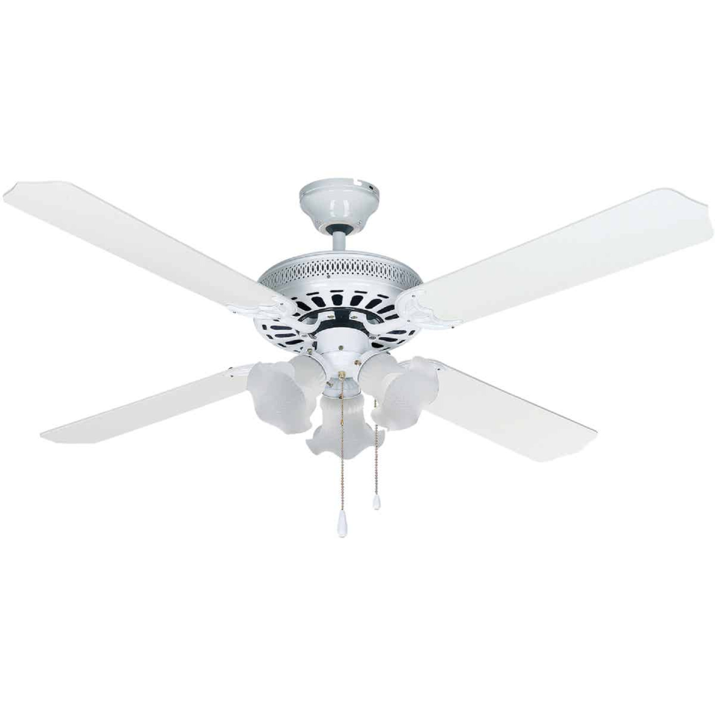 Home Impressions Chateau 52 In. White Ceiling Fan with Light Kit Image 1