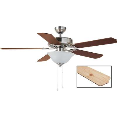 Home Impressions Baylor 52 In. Brushed Nickel Ceiling Fan with Light Kit