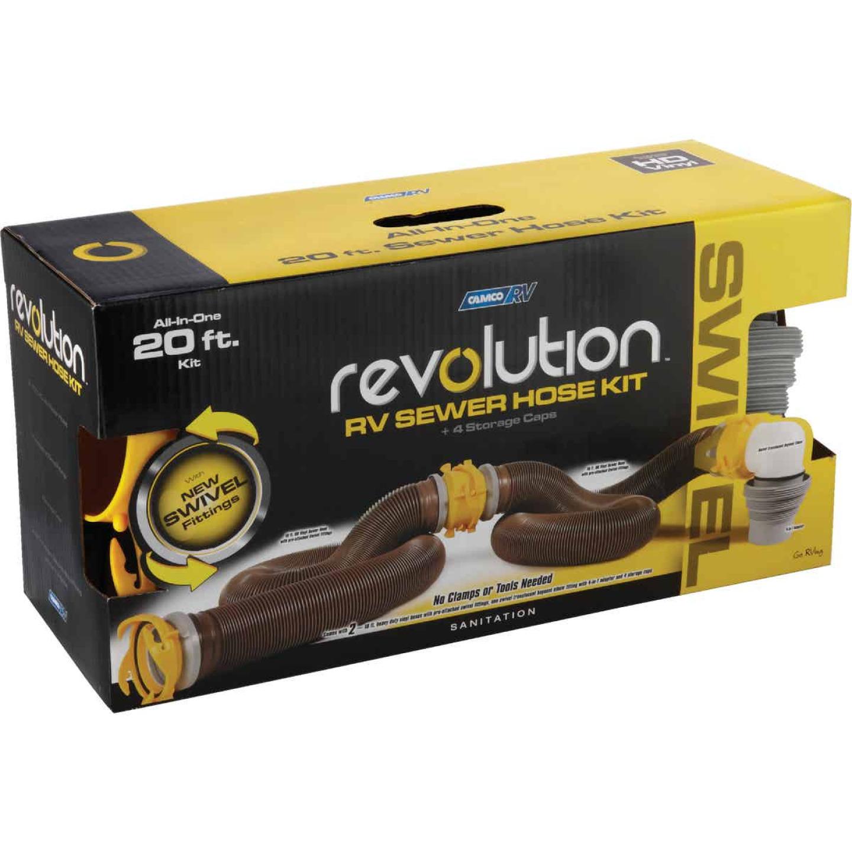 Camco 10 Ft. Revolution Swivel RV Sewer Kit Image 3