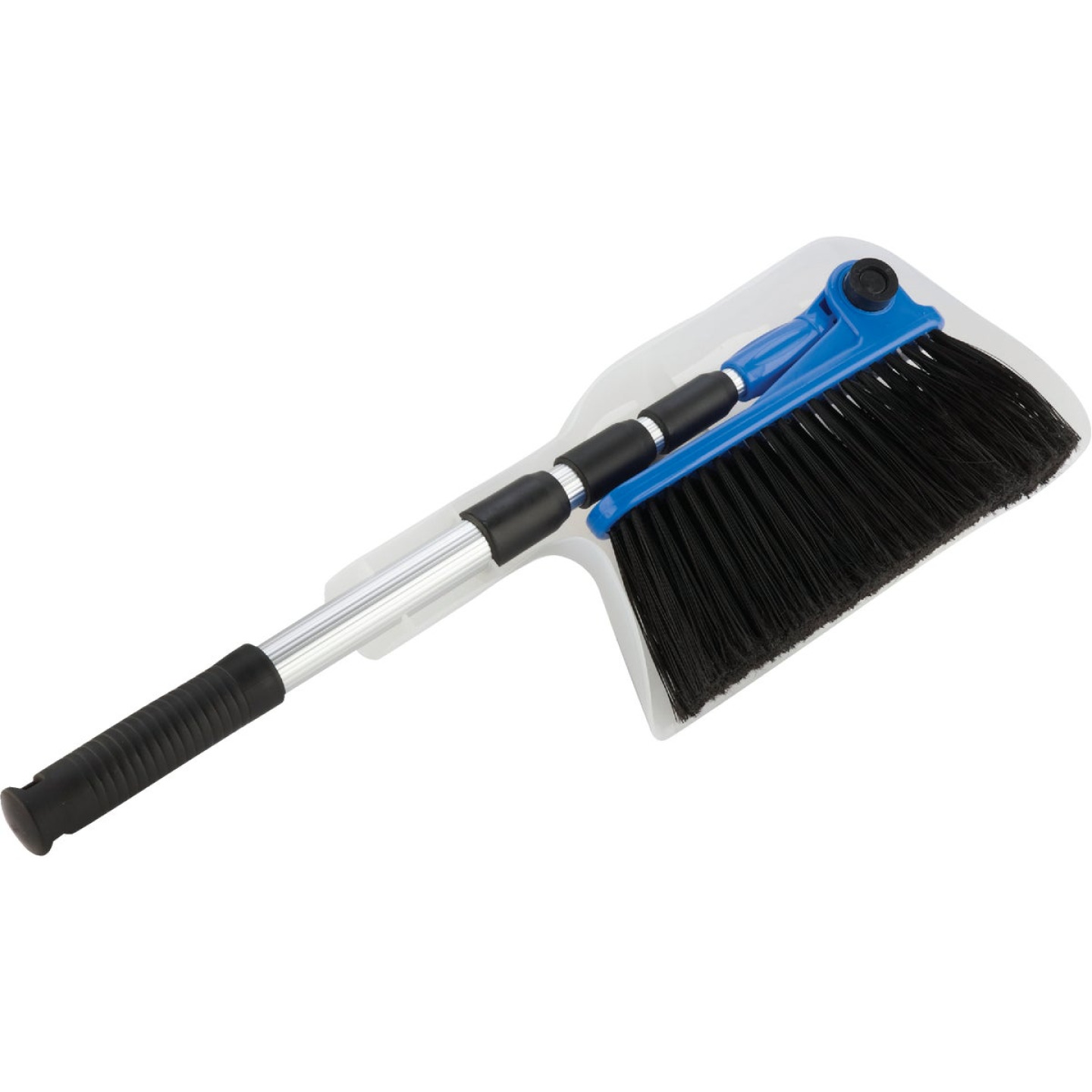 Camco Adjustable Length RV Broom and Dustpan Image 1