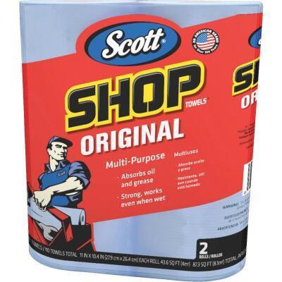 Scott 11 In. W x 10.4 In. L Disposable Original Shop Towel, (2-Roll/110-Sheets)