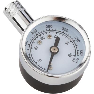 Custom Accessories 5-60 Psi Chrome-plated Tire Gauge