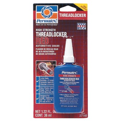 PERMATEX 1.22 Oz. Red High Strength Threadlocker