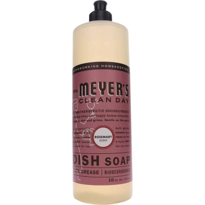 Mrs. Meyer's Clean Day 16 Oz. Rosemary Scent Liquid Dish Soap