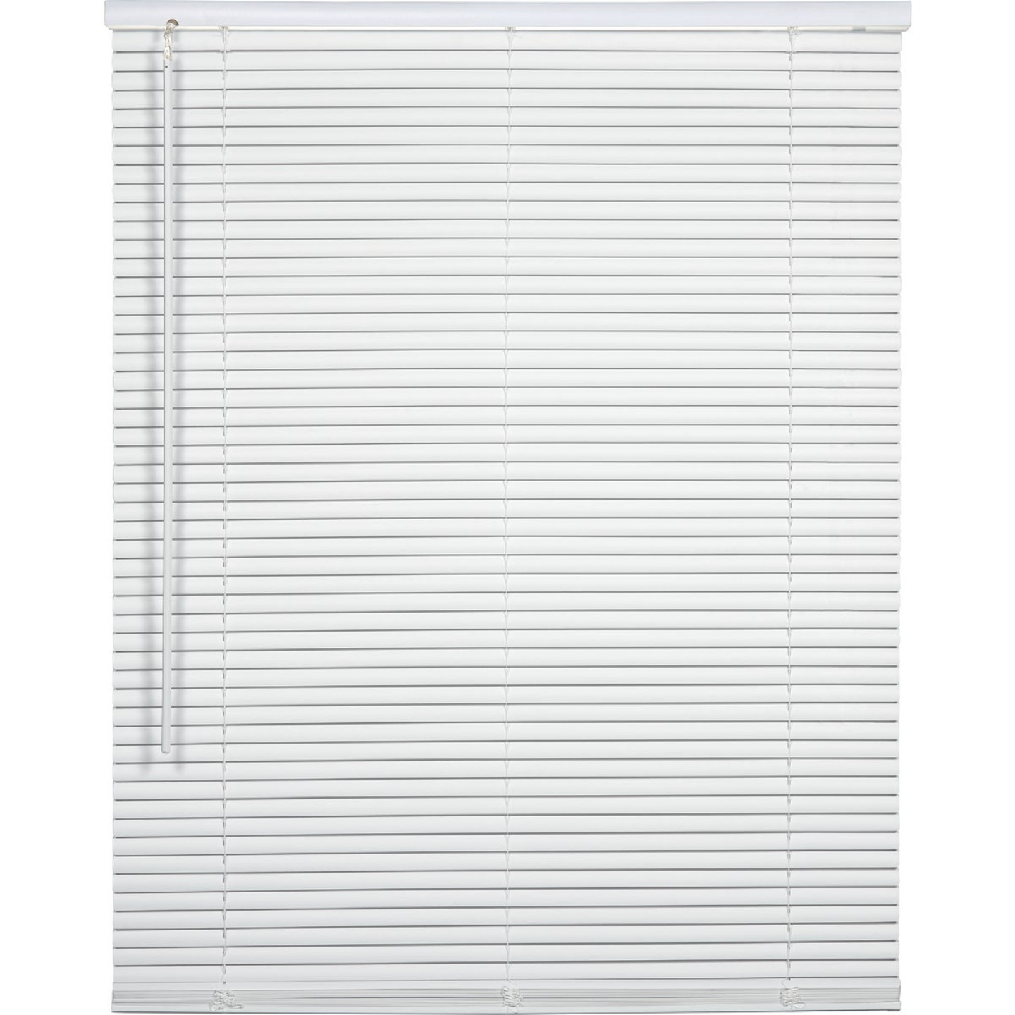 Home Impressions 32 In. x 64 In. x 1 In. White Vinyl Light Filtering Cordless Mini Blind Image 1