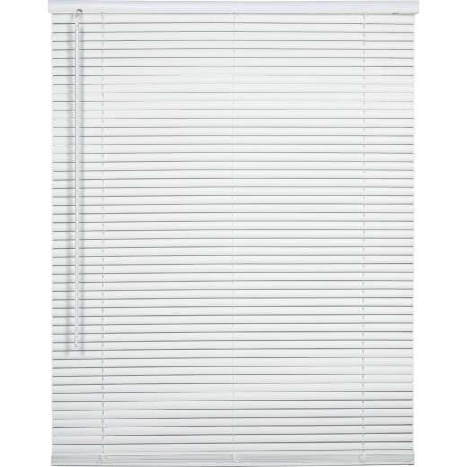 Home Impressions 35 In. x 72 In. x 1 In. White Vinyl Light Filtering Cordless Mini Blind