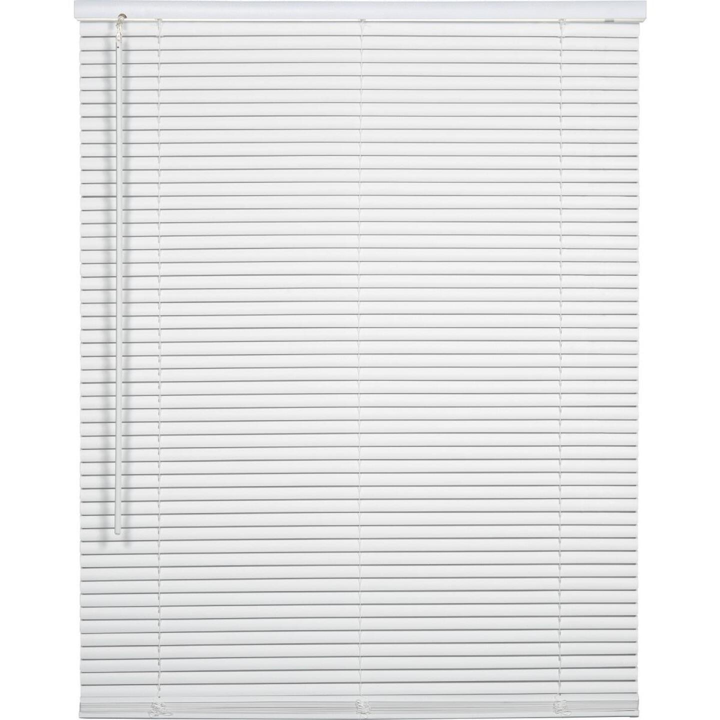 Home Impressions 23 In. x 64 In. x 1 In. White Vinyl Light Filtering Cordless Mini Blind Image 1