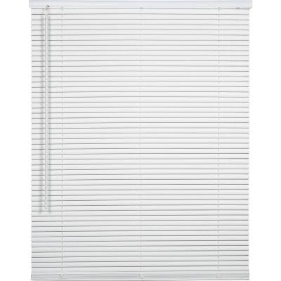 Home Impressions 28 In. x 72 In. x 1 In. White Vinyl Light Filtering Cordless Mini Blind