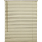 Home Impressions 27 In. x 64 In. x 1 In. Vanilla Vinyl Light Filtering Cordless Mini Blind Image 1