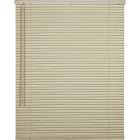Home Impressions 34 In. x 64 In. x 1 In. Vanilla Vinyl Light Filtering Cordless Mini Blind Image 1