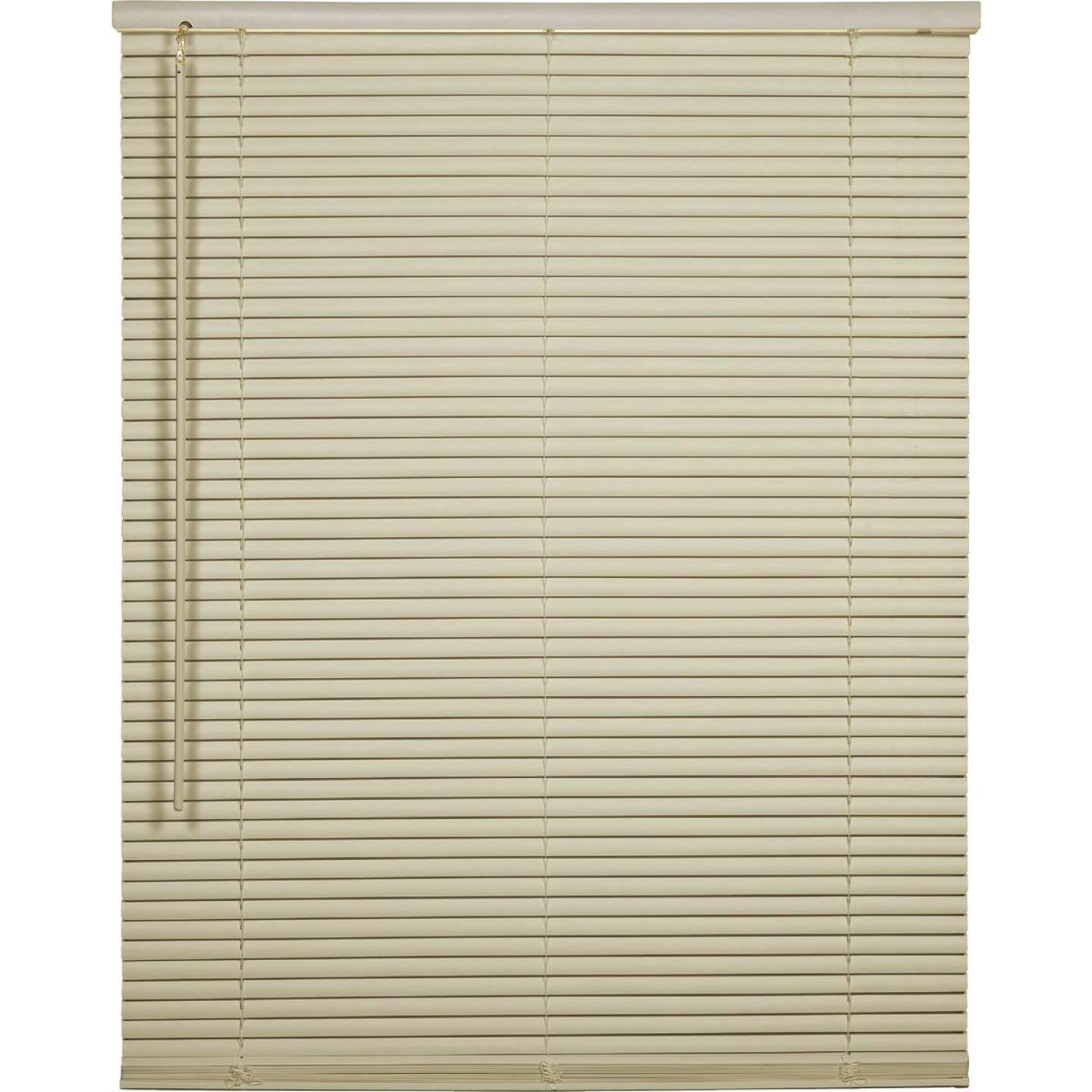 Home Impressions 35 In. x 64 In. x 1 In. Vanilla Vinyl Light Filtering Cordless Mini Blind Image 1