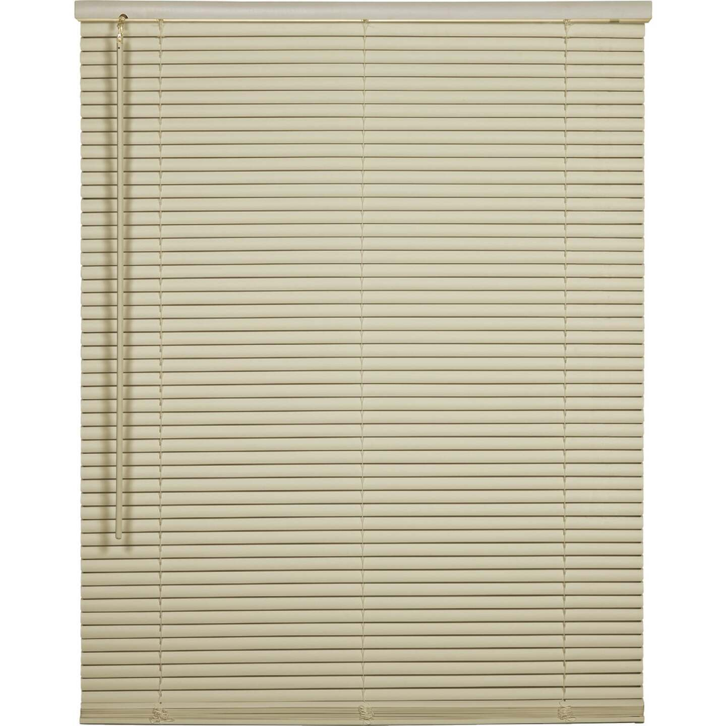 Home Impressions 43 In. x 64 In. x 1 In. Vanilla Vinyl Light Filtering Cordless Mini Blind Image 1