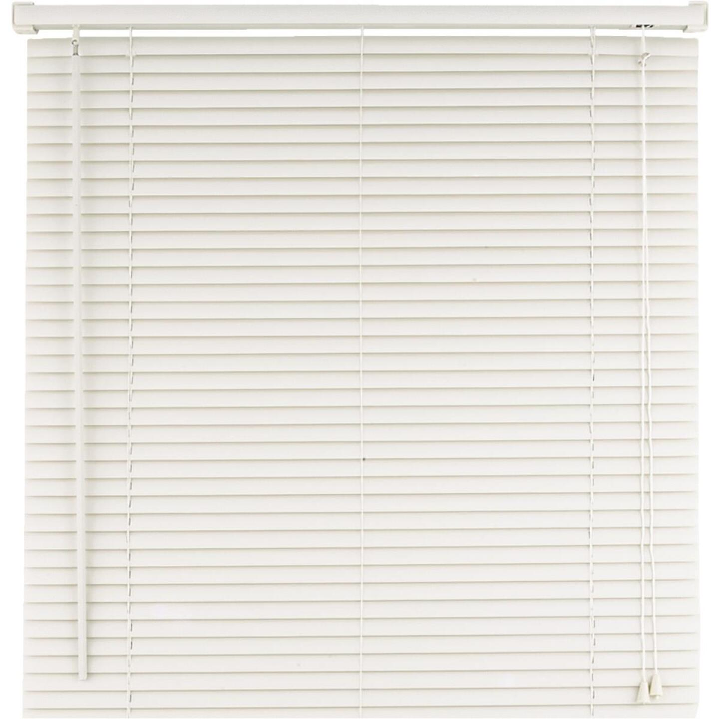 Home Impressions 60 In. x 64 In. White Vinyl Light Filtering Corded Mini-Blinds Image 1