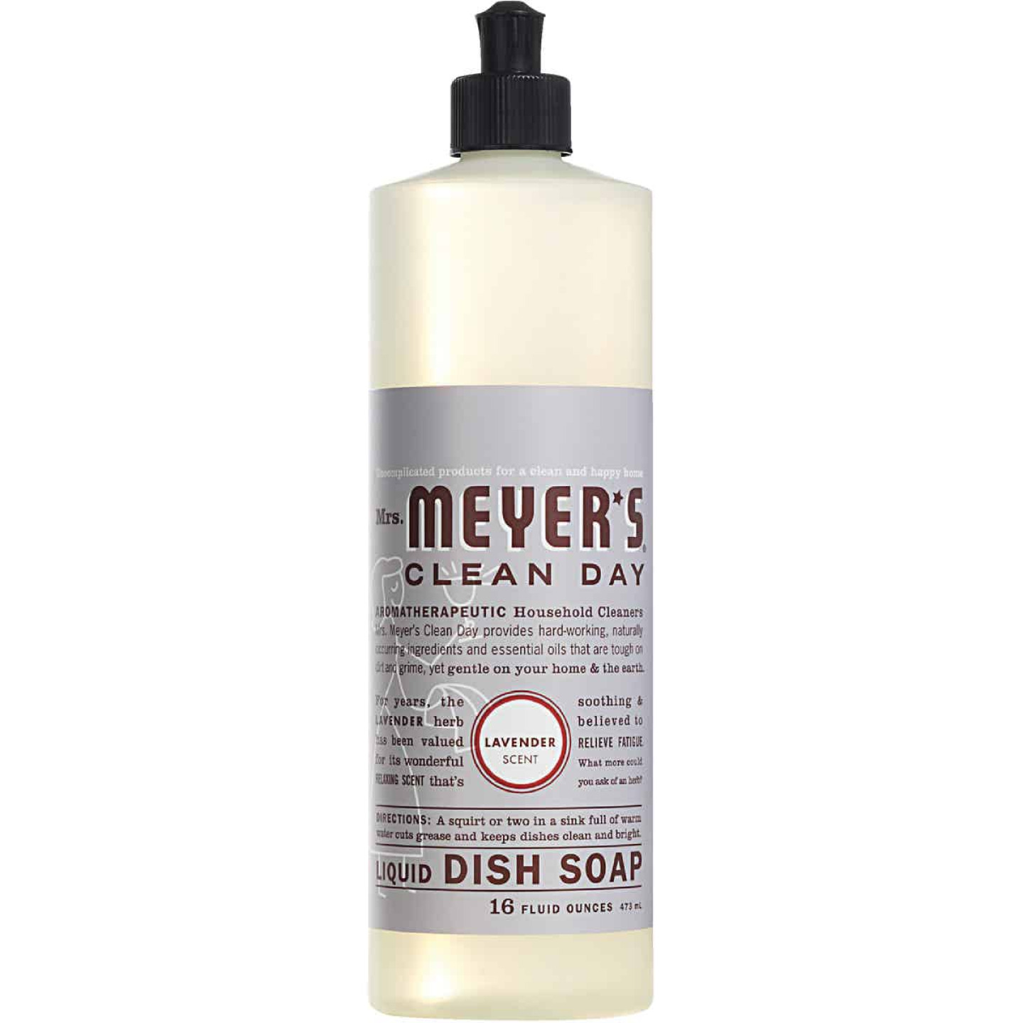 Mrs. Meyer's Clean Day 16 Oz. Lavender Scent Liquid Dish Soap Image 1