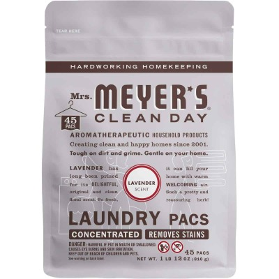 Mrs. Meyer's 45 Load Lavender Clean Day Laundry Pod Detergent