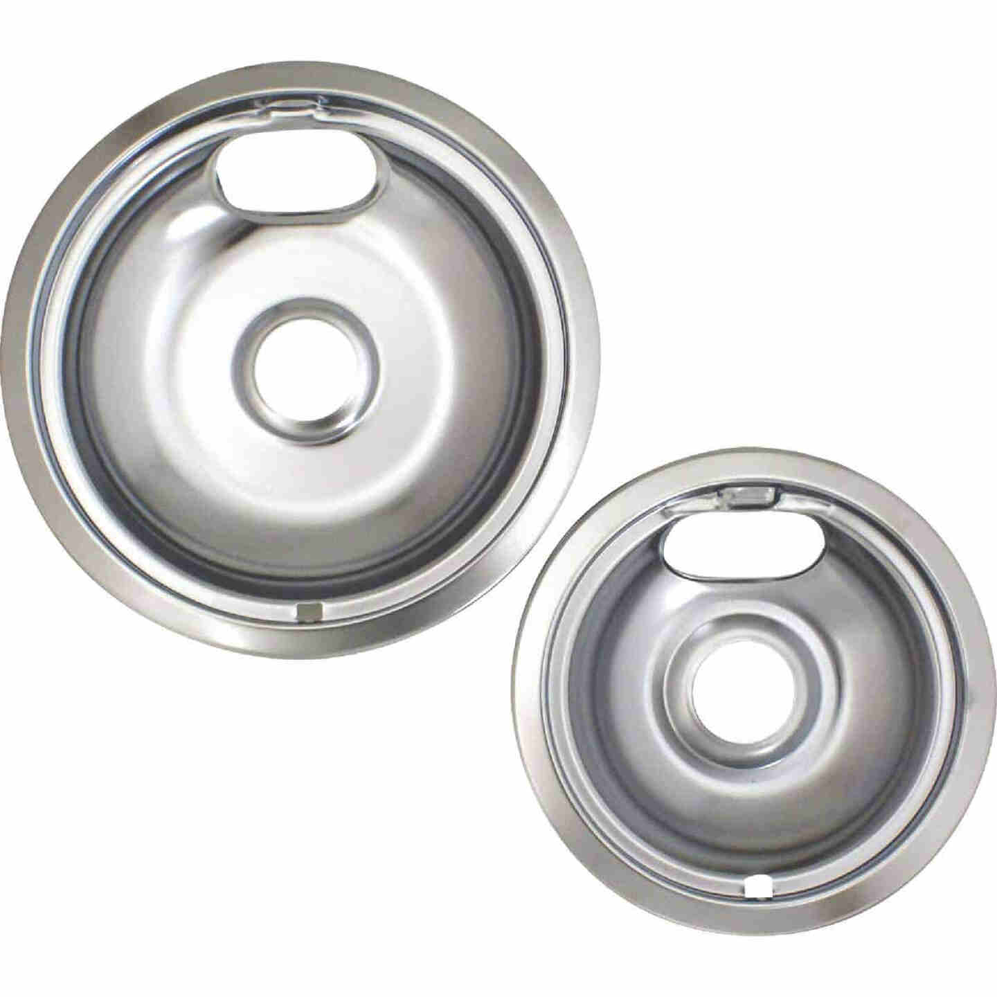 """Range Kleen Electric (1) 6"""" & (1) 8"""" Style A Round Chrome Drip Pan Image 2"""