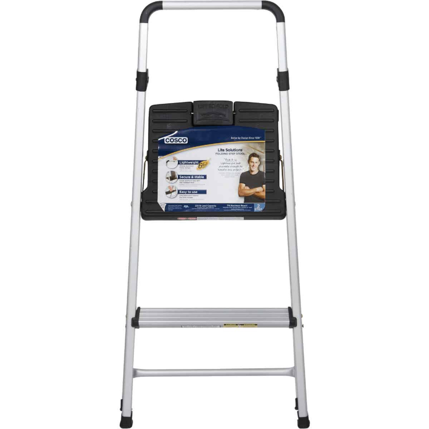 COSCO Lightweight 2-Step Folding Step Stool Image 2