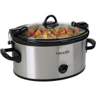 Crock-Pot 6 Qt. Stainless Steel Oval Slow Cooker Image 1