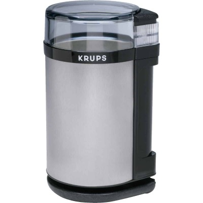 Krups Electric Brushed Stainless Steel Coffee and Spice Grinder